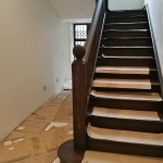 NEWLY REPAIRED & STAINED STAIRCASE